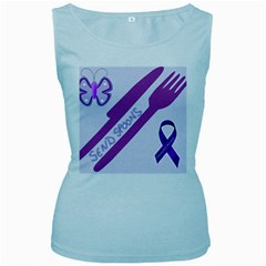 Send Spoons Women s Tank Top (baby Blue)