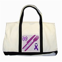 Send Spoons Two Toned Tote Bag