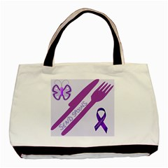 Send Spoons Twin-sided Black Tote Bag