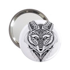 Ornate Foxy Wolf Handbag Mirror (2.25 )