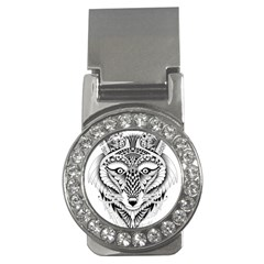 Ornate Foxy Wolf Money Clip (cz)