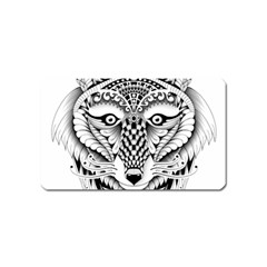 Ornate Foxy Wolf Magnet (Name Card)