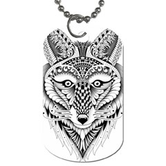 Ornate Foxy Wolf Dog Tag (two Sided)