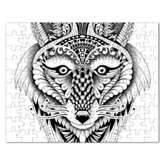 Ornate Foxy Wolf Jigsaw Puzzle (Rectangle)