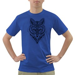 Ornate Foxy Wolf Men s T-shirt (Colored)