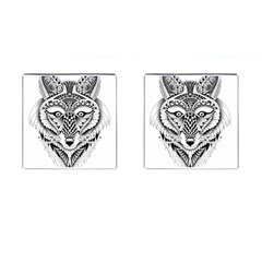 Ornate Foxy Wolf Cufflinks (Square)