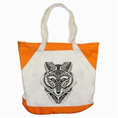 Ornate Foxy Wolf Accent Tote Bag