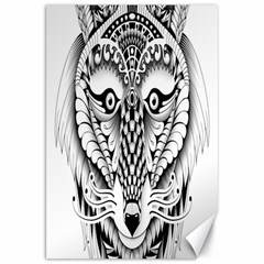 Ornate Foxy Wolf Canvas 20  x 30  (Unframed)