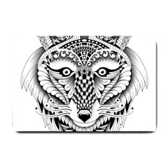 Ornate Foxy Wolf Small Door Mat