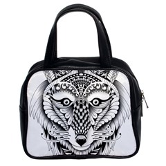 Ornate Foxy Wolf Classic Handbag (two Sides)