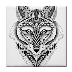 Ornate Foxy Wolf Face Towel