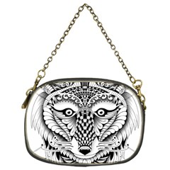 Ornate Foxy Wolf Chain Purse (one Side)