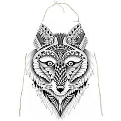 Ornate Foxy Wolf Apron