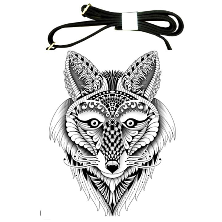 Ornate Foxy Wolf Shoulder Sling Bag