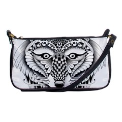 Ornate Foxy Wolf Evening Bag