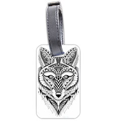 Ornate Foxy Wolf Luggage Tag (Two Sides)