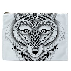 Ornate Foxy Wolf Cosmetic Bag (xxl)