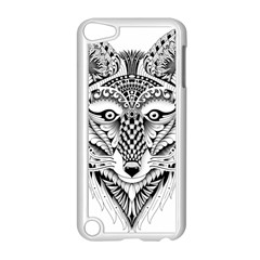 Ornate Foxy Wolf Apple iPod Touch 5 Case (White)