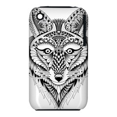 Ornate Foxy Wolf Apple Iphone 3g/3gs Hardshell Case (pc+silicone)