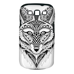 Ornate Foxy Wolf Samsung Galaxy S III Classic Hardshell Case (PC+Silicone)