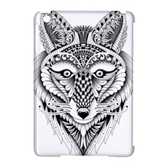 Ornate Foxy Wolf Apple iPad Mini Hardshell Case (Compatible with Smart Cover)