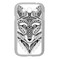 Ornate Foxy Wolf Samsung Galaxy Grand DUOS I9082 Case (White)