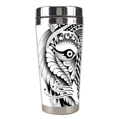 Ornate Foxy Wolf Stainless Steel Travel Tumbler