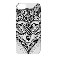 Ornate Foxy Wolf Apple iPhone 5S Hardshell Case