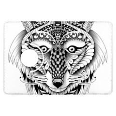 Ornate Foxy Wolf Kindle Fire HDX 7  Flip 360 Case