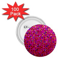 Polka Dot Sparkley Jewels 1 1.75  Button (100 pack)