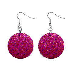 Polka Dot Sparkley Jewels 1 Mini Button Earrings