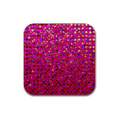 Polka Dot Sparkley Jewels 1 Drink Coaster (square)