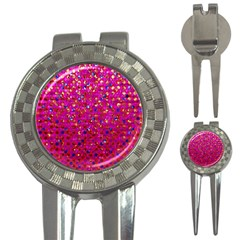 Polka Dot Sparkley Jewels 1 Golf Pitchfork & Ball Marker