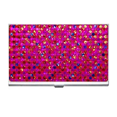 Polka Dot Sparkley Jewels 1 Business Card Holder