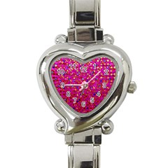 Polka Dot Sparkley Jewels 1 Heart Italian Charm Watch