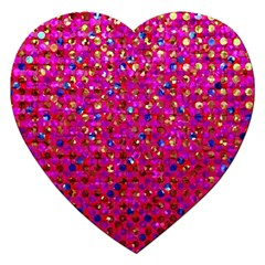 Polka Dot Sparkley Jewels 1 Jigsaw Puzzle (Heart)