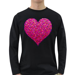 Polka Dot Sparkley Jewels 1 Men s Long Sleeve T Shirt (dark Colored)