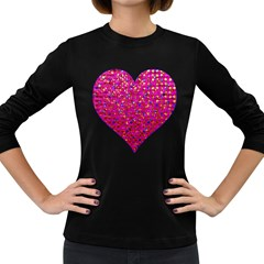 Polka Dot Sparkley Jewels 1 Women s Long Sleeve T-shirt (Dark Colored)