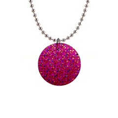 Polka Dot Sparkley Jewels 1 Button Necklace