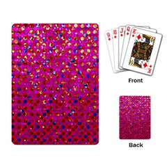 Polka Dot Sparkley Jewels 1 Playing Cards Single Design