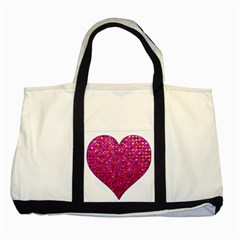 Polka Dot Sparkley Jewels 1 Two Toned Tote Bag