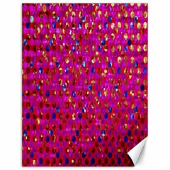 Polka Dot Sparkley Jewels 1 Canvas 12  x 16  (Unframed)