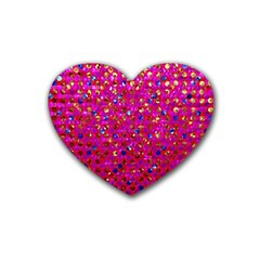 Polka Dot Sparkley Jewels 1 Drink Coasters 4 Pack (Heart)