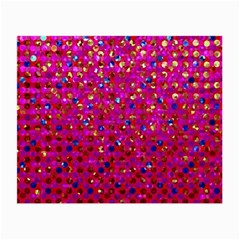 Polka Dot Sparkley Jewels 1 Glasses Cloth (Small, Two Sided)
