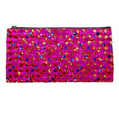 Polka Dot Sparkley Jewels 1 Pencil Case