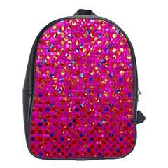 Polka Dot Sparkley Jewels 1 School Bag (large)