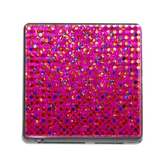 Polka Dot Sparkley Jewels 1 Memory Card Reader With Storage (square)