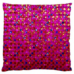 Polka Dot Sparkley Jewels 1 Large Cushion Case (Single Sided)