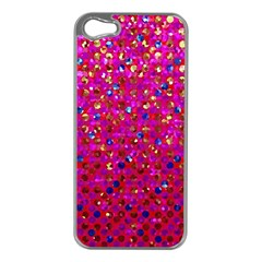 Polka Dot Sparkley Jewels 1 Apple Iphone 5 Case (silver)