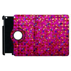 Polka Dot Sparkley Jewels 1 Apple iPad 3/4 Flip 360 Case